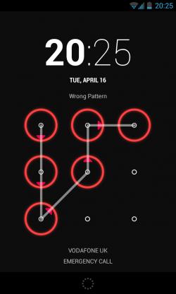 incorrect pattern
